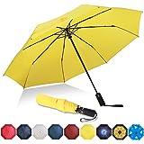 Eono by Amazon - Ombrello Portatile Automatico Antivento, Ombrello Pieghevole Compatto, Folding Umbrella, con Stecche Rinforz