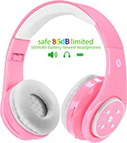 WOICE Wireless Bluetooth Kids Headphones, 85db Volume Limited, Over-Ear and Build-in Mic Wireless/Wired Children Headphones