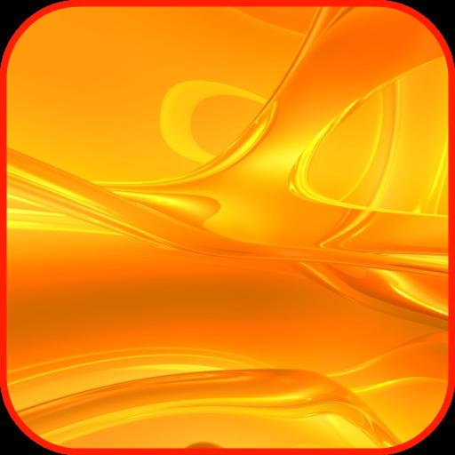 Orange Wallpaper - Amber Blossom