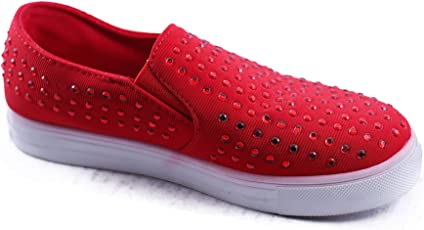 HIE N BUY Imported RED Flat Sneakers Girls