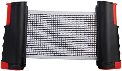 Okayji Replacement Retractable Portable Table Tennis Rack Net With Adjustable Length And Push Clamps - Random Colour