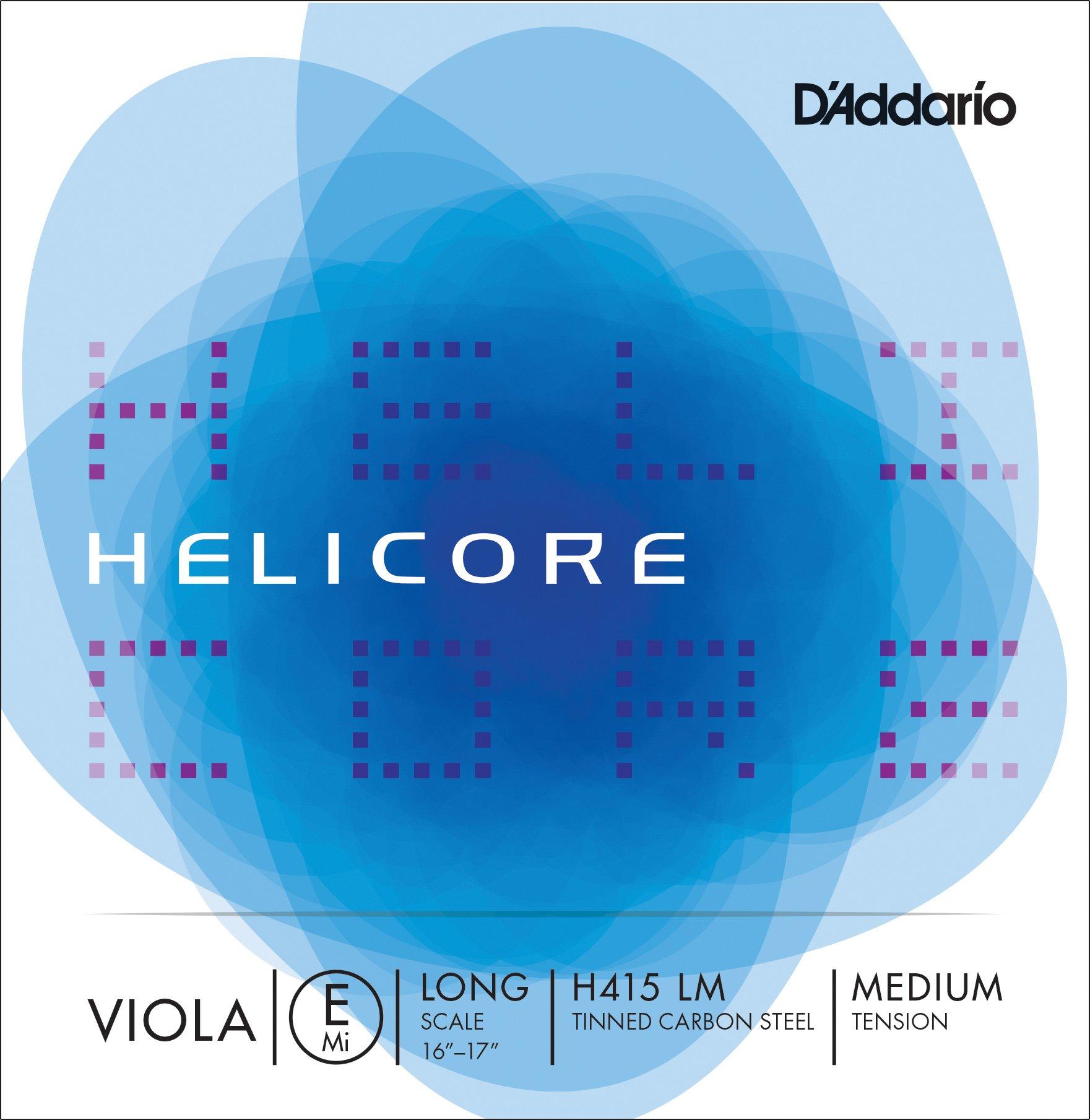 D'Addario H415-LM Helicore - Corda singola MI per viola, con anima in carbonio zincato, a scala lung