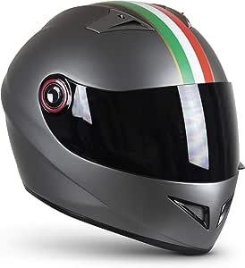 Soxon St 666 Imola Titan Integral Helm Full Face Motorrad Helm Roller Helm Scooter Helm Cruiser Sturz Helm Streetfighter Helm Ece 22 05 Visier Schnellverschluss Tasche S 55 56cm Auto