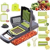 Mandoline Cuisine Multifonction Couper les Legumes 11 en 1, Trancheur de Légumes, Hachoir de Graterie de Cuisine…
