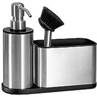 Oriware Organiseur d'évier avec Distributeur de Savon intégré et Support d'éponge. (Pompe et Bec du Distributeur en…