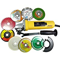 Procut 850W 801 Angle Grinder Combo with 8 Wheels for Cutting Grinding Buffing Polishing Application, 4 Inch