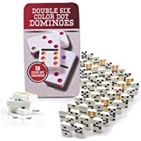 Graphitos Double Six Domino Game Set with 28 Domino Tiles