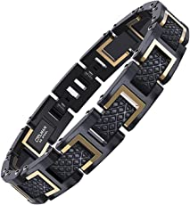COOLMAN Herren Armband Edelstahl Armbänder für Männer Größe Einstellbar 20-22 cm, Rennlegende-Serie