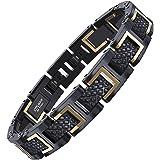 COOLMAN - Bracciale da uomo, Braccialetto in acciaio inossidabile 316L, Dimensione regolabile 20-22 cm, con GRATUITO Gift Box