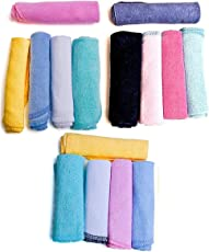 Krishnam Hosiery Newborn Baby Soft Cotton Face Towels (Beutifull Multicolor) Colour Print May be Very (15 pcs)