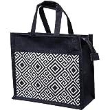 A&A Bags Stylist Jute Biodegradable Lunch Bag (Black)
