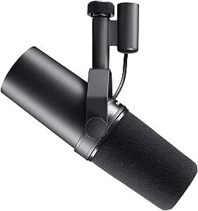 Shure SM7B – Microfono dinamico con pattern polare a cardioide che offre un suono caldo e omogeneo per le trasmissioni radiofoniche, il podcasting e le registrazioni