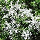 30Stück Weihnachten Winter Schneeflocken 11cm Stern Schnee Schneehänger zum Hängen formbar Tischdeko/Weihnachtsdeko