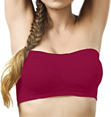TWO DOTS Non-Padded & Non-Wired Seamless Tube Bandeau Bra for Women (Size: Free)