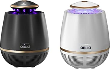 OBLIQ Edon Mosquito Trap Killer USB Powered with 360 Degree UV Light for Indoor & Outdoors