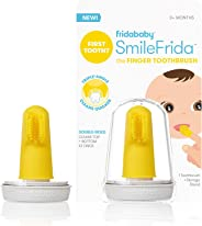 Baby's First Toothbrush with Case, Silicone, BPA-Free - SmileFrida the Finger Toothbrush by Fridababy, cleans teeth and gums
