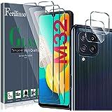 Ferilinso Protector de Pantalla Diseñado para Samsung Galaxy M32 4G, 3 Piezas HD Cristal Templado con 2 Piezas Protector de L