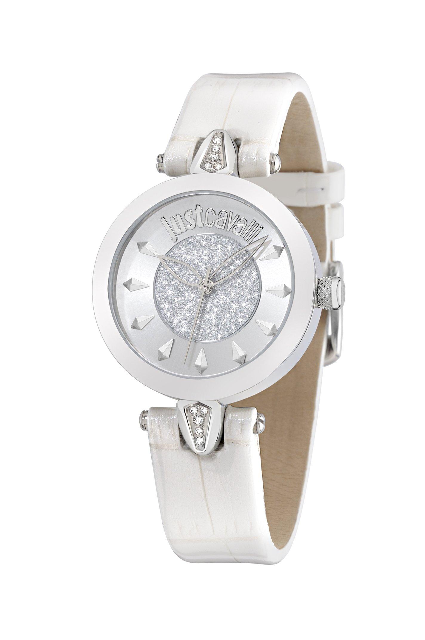 Just Cavalli Time R7251149503 – Reloj Analógico Para Mujer, color Gris/Blanco