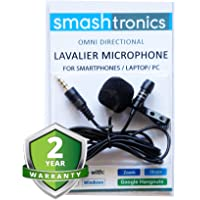 Smashtronics - COllar Clip Microphone Omnidirectional Mic with Easy Clip On System Perfect for Recording Youtube…