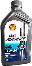 Olio motore moto Shell Advance Ultra 15W50 4T API SM/JASO MA2-1 Litro