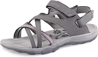GRITION Sandali Trekking da Donna Comodi Sportivi per Escursionismo, Campeggio, Camminata, Spiaggia, Sportivi
