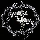 Gudotra 3packs Accessori Capelli Sposa Donna 2pz Forcine Nuziale Sposa+1pz Fascia Nuziale per Capelli Decorazione per Matrimonio