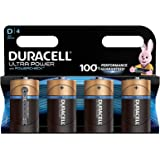 Duracell Ultra Power Piles Alcalines type D, Lot de 4 piles