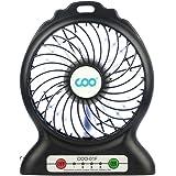 COO Mini ventilateur USB pour bureau et voiture noir noir