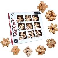 3T6B 3D Puzzle Casse-tête en Bois 9 pcs, Jeu de Cerveau Puzzle en Bois pour l'entraînement cérébral des Enfants et des…