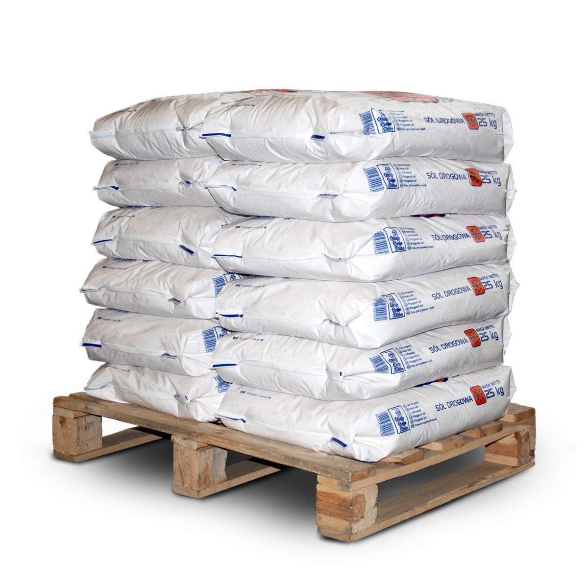 PALIGO Streusalz Auftausalz Straßensalz Tausalz Steinsalz Wintersalz Räumsalz Taumittel Granulat Salz 25kg x 12 Sack 300kg / 1 Palette