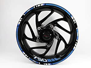 Bike Label 710079va Felgenrand Und Felgenbett Aufkleber Set Für Motorrad Auto Felgen 16 17 18 Zoll Blau Größe 750 Auto