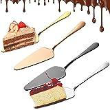 4 delar kakservrar, tårtfat i rostfritt stål, professionell kakkniv rostfritt stål kakserver polerad kakkniv för kök, restaur