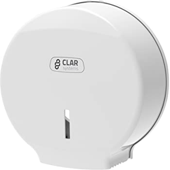Clar Systems P3000PB Dispensador de Papel Higiénico en Rollo, Blanco