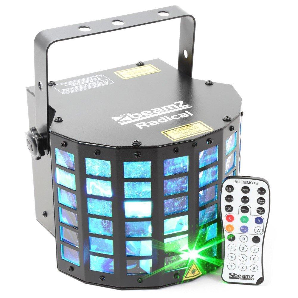 BeamZ Radical - stroboscopes & disco lights (Stainless steel, LED, Amber, Blue, Green, Purple, Whit