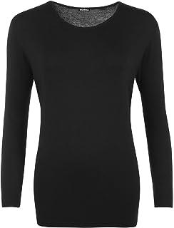 0d1b62cc193e WearAll - T-Shirt Simple à Manches Longues - Hauts - Femmes - Grandes  Tailles