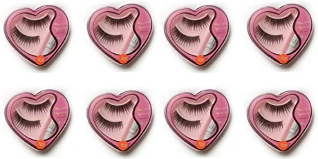 DC Women's Bold n Young Long False Eyelashes with Glue for Pretty Eye Makeup Combo Pack Set Of 8 (Black)