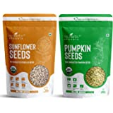 Neuherbs Organic Sunflower & Pumpkin Seeds Combo for Healthy heart, Restful sleep, Boosted energy and Weight management- (Su