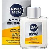 NIVEA MEN Active Energy After Shave Balsem (100 ml), revitaliserende aftershave, huidverzorging na het scheren met cafeïne ui