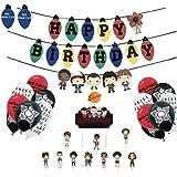 Ginkago Palloncini Banners Decorazioni Set per Compleanno, 30 Palloncini & Banners & Toppers Set per Buon Compleanno Fornitur