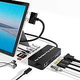 Surface Pro Dock para Surface Pro 4 / Pro 5 / Pro 6 USB Hub Docking Station con Puerto Gigabit Ethernet,4K HDMI VGA DP Displa