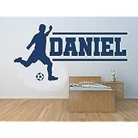 Nome personalizzato, calciatore. Autoadesivo della parete del vinile, murale, decalcomania. Casa, decorazione della…