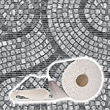 ANRO Weichschaummatte Badvorleger Bodenbelag Badläufer Antirutsch 130x100cm Mosaik Steine Grau