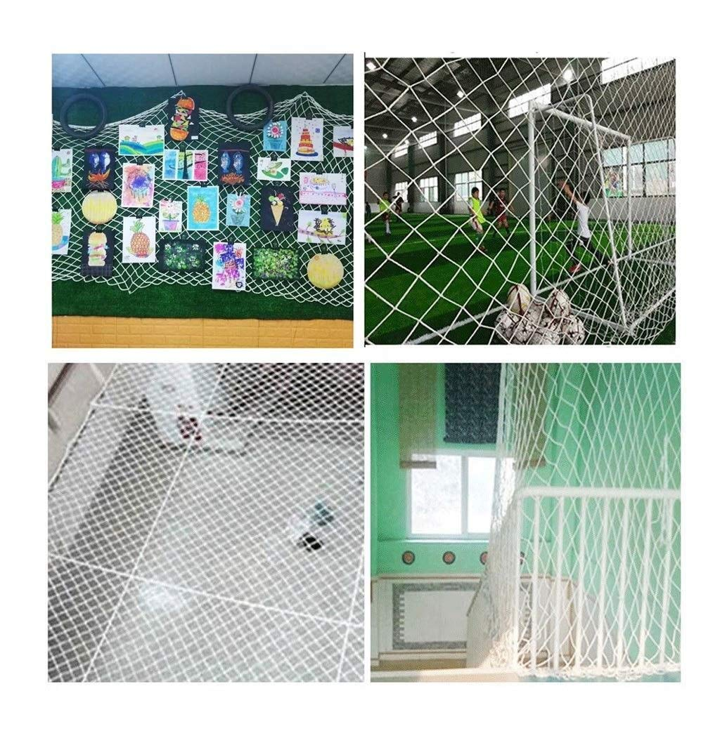 Protective net, anti-fall safety net cat net balcony safety net children's fence net safety net decoration net kindergarten playground park stadium multi-purpose (Size : 10 * 10M(33 * 33ft))  ◆ Safety net wire diameter 6MM, mesh spacing 10CM.Color: white rope net.Our protective mesh can be customized according to your needs. ◆Protective net material: Made of nylon braided rope, hand-woven, tightened.Exquisite workmanship, solid and stable, can withstand 300kg weight impact. ◆Features of decorative net: soft material, light mesh, multi-layer warp and weft, fine wiring, fine workmanship; clear lines, non-slip durable, anti-wear. 5