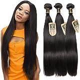 Yavida 8A brésilienne cheveux raides 3 bundles vierges cheveux droits non transformés brésiliens armures de cheveux humains à tête pleine de couleur naturelle