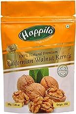 HappiloPremium 100% Natural Californian Walnut Kernels, 200g (Pack of 1)