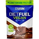 USN Diet Fuel Vegan Chocolate 880 g: Dairy Free Vegan Meal Replacement Shake and Vegan Protein Powders
