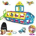 CONDIS 95 Piezas Bloques de Construcción Magnéticos para Niños, Juegos de Viaje Construcciones Magneticas Imanes Regalos Cump