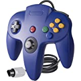 suily Classic Video Game Controller Gamepad Joystick for N64 Console (Blue)