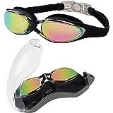 Bezzee Pro Duik Bril - UV Bescherming & Anti Aanslag Zwembril met Opslag Doosje – Lek Vrij & Aanpasbare Siliconen Band Voor V