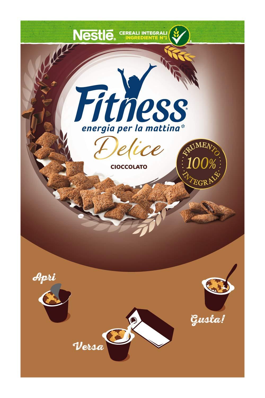 Nestlé Fitness Delice Cioccolato Cereali Integrali con Ripieno Morbido al Cioccolato, 8 x 45 G 2 spesavip